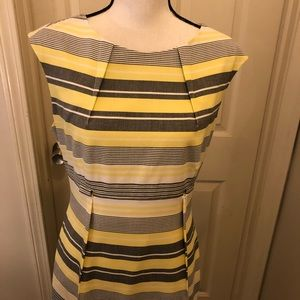 Calvin Klein Dresses - Calvin Klein dress yellow and gray size 10